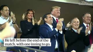 'Lock him up': Trump greeted with boos at World Series
