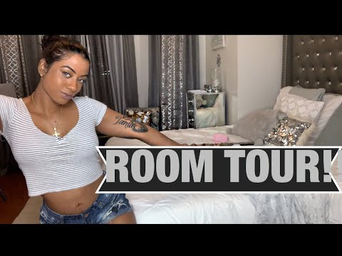 MY ROOM TOUR!!(Mirrored Furniture Silver decor)ROSE POCAHONTAS