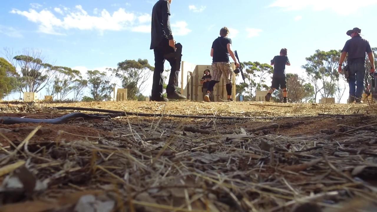 Battle For Waterloo Gel Blaster Event drone footage 8/4/18 Waterloo Corner  South Australia