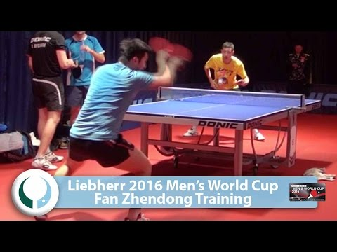Fan Zhendong Training @ 2016 Men's World Cup