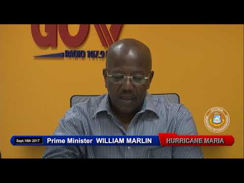 Prime Minister William Marlin Hurricane Maria Message