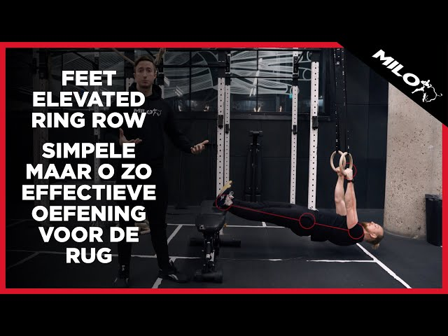 Feet Elevated Ring Row