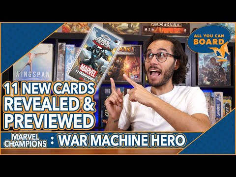 War Machine Hero | Marvel Champions | 11 NEW CARDS REVEALED and PREVIEWED! (Amazing new ALLIES!)