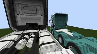 Minecraft Scania R560 V8 Streamline project huge scale