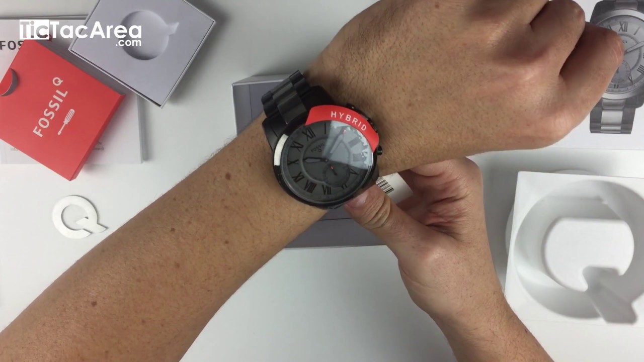 Unboxing Fossil Q Grant Ftw1139 Hybrid Smartwatch Video Youtube
