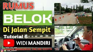 Tutorial 5 | Rumus Termudah Belok L di Gang Sempit with Drone by Kursus Stir Mobil WIDI MANDIRI
