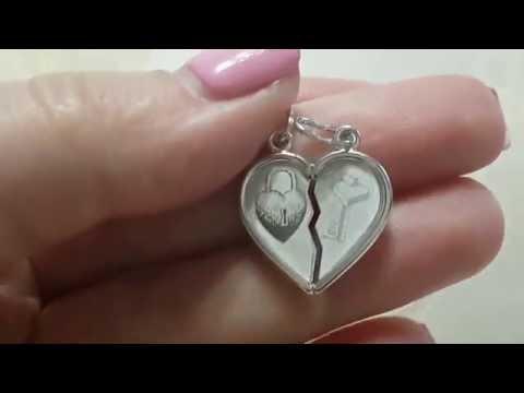 Серебряное сердце для двух влюбленных
