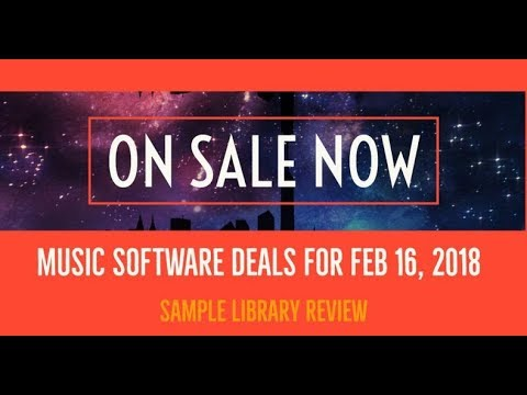 On Sale Now • Music Software News & Deals for February 16, 2018
