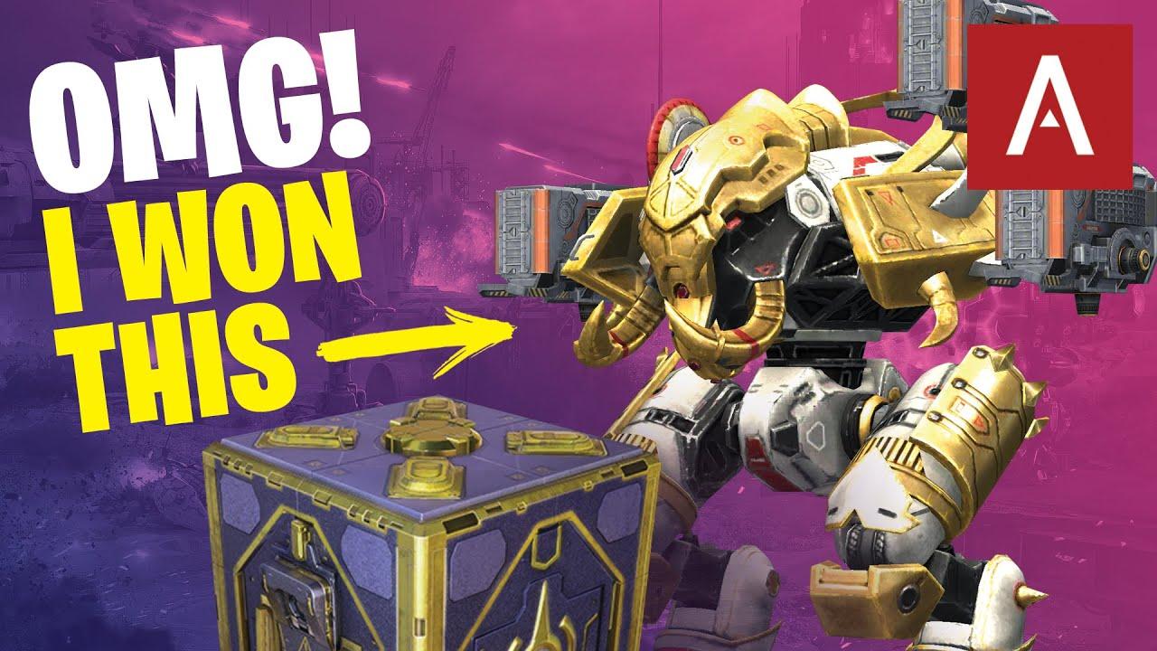 War Robots - OMG I Won an Ivory Ravana! Baby Account Box Opening (1,500 coins) WR Gameplay