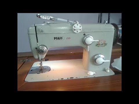 pfaff 260, maquina de coser sewing machine - YouTube