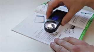Produktvideo zu Hand-Leuchtlupe Led Mobil