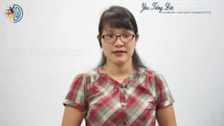 Học tiếng Đức cùng cô Thùy Dương-Bài 6: Persönliche Angaben – Thông tin cá nhân