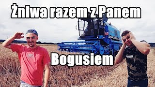 Żniwa z Panem Bogusiem 2019 VLOG Bizon Rekord / RolnikowoPL