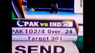 Pakistan insults Indian Flag - India Vs Pakistan World Cup 2015