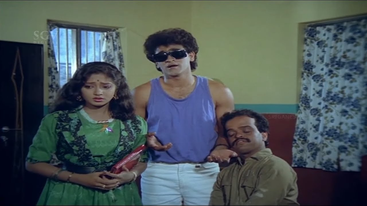 Raghavendra Impressing Vidyashree Comedy Scene | Anukoolakkobba Ganda Kannada Movie