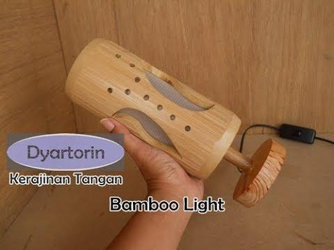 Kreasi unik kerajinan tangan - Cara membuat lampu hias minimalis dari bambu