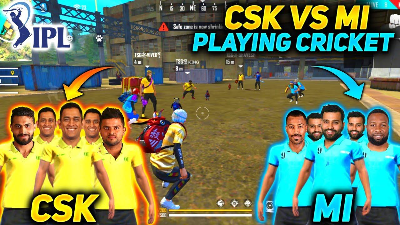 FREE FIRE | PLAYING CRICKET IN FREE FIRE | IPL MATCH MUMBAI INDIANS VS CHENNAI SUPER KINGS| #tsgarmy