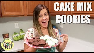 2 EASY CAKE MIX COOKIE RECIPES | COOK WITH ME | CRINKLE COOKIE RECIPE | ROLO COOKIE RECIPE