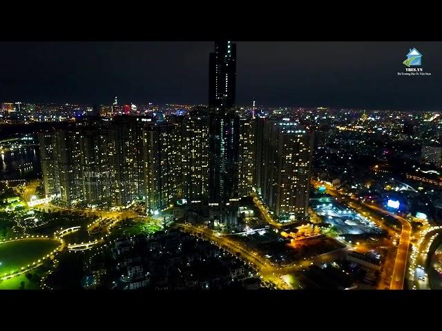 Lóa mắt với hình ảnh cả tòa The Landmark 81 sáng đèn về đêm | Vres tv