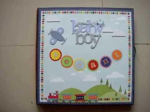 Baby Boy First Year Scrapbook Album YouTube
