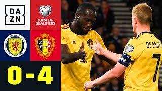 Assist-Hattrick für Kevin de Bruyne: Schottland - Belgien 0:4 | EM Quali | DAZN Highlights