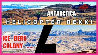 Helicopter ride around Bharati research station, Antarctica##Polar man studio###