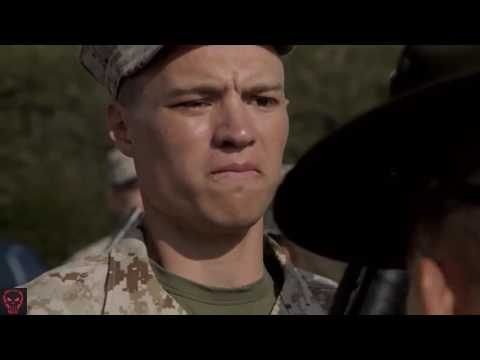 Military | USMC Drill Instructors Inspect Recruits At Boot Camp