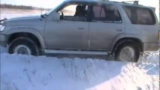 Поездка на озеро Toyota Hilux Surf и Mitsubishi Pajero
