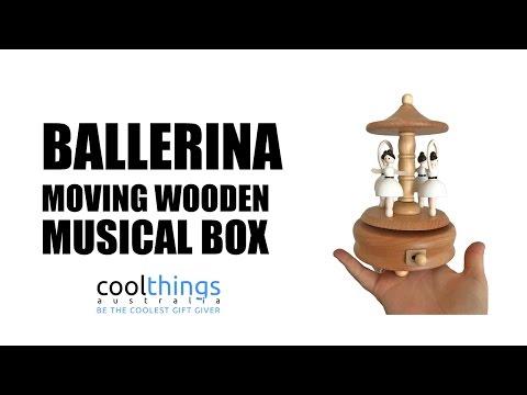 Ballerina Wooden Musical Box