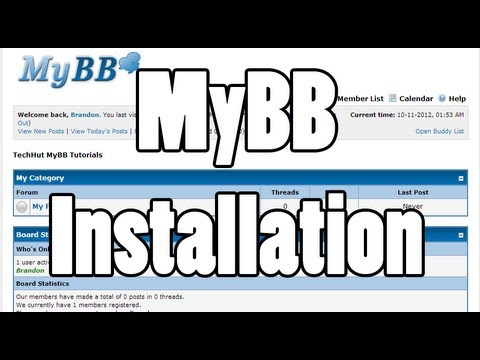 How to install MyBB Forum Software