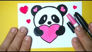 Como Desenhar URSO PANDA Fofo Bonito e Fácil / Desenhos bonitos - Desenho para Desenhar
