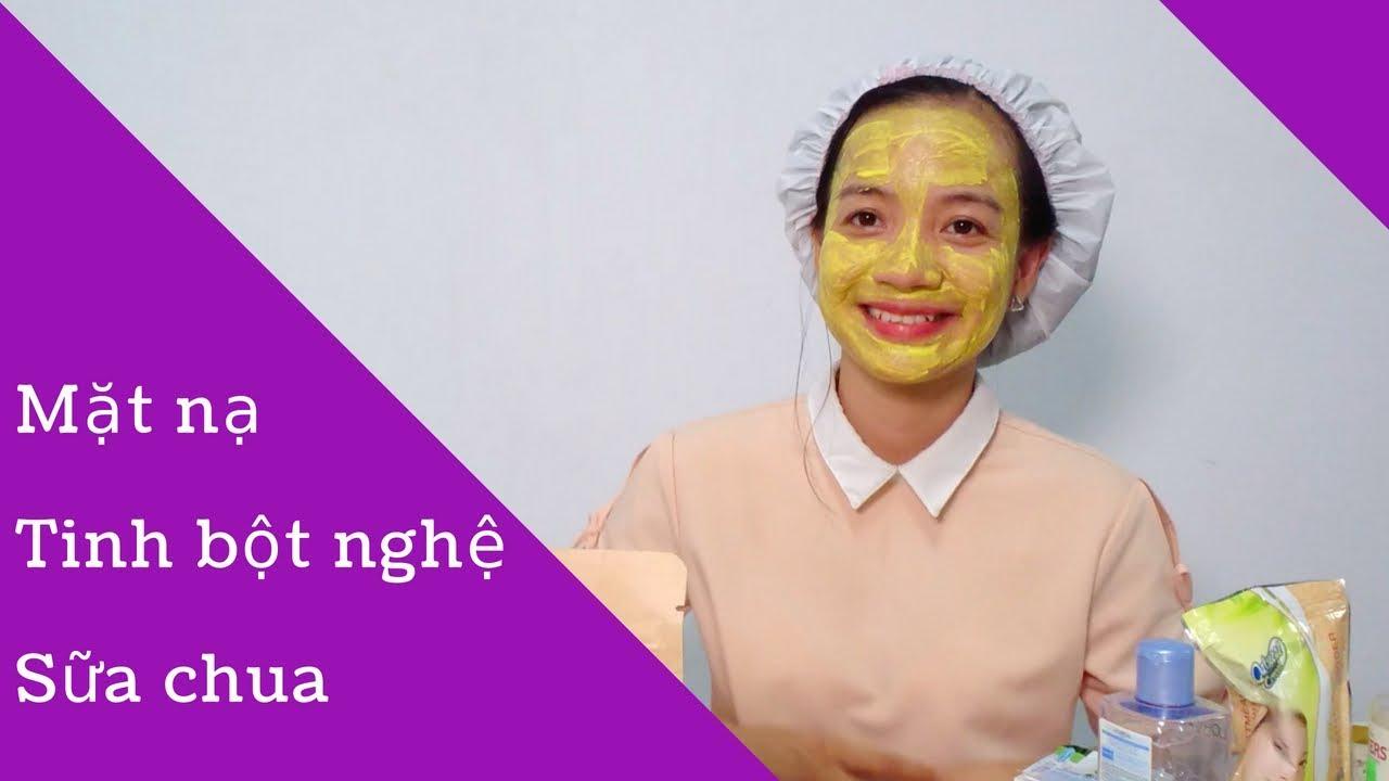 CÁCH ĐẮP MẶT NẠ TINH BỘT NGHỆ SỮA CHUA -DA MỀM MỊN LẮM  | Tinh bột nghệ HOMiE | Lê Thị Thơm