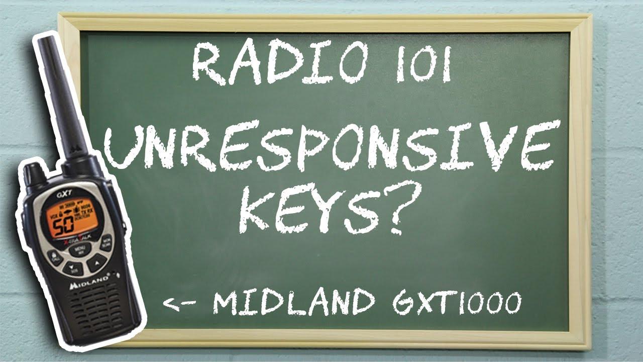 Troubleshooting Unresponsive Keys on Midland GXT Two Way Radios - Radio 101