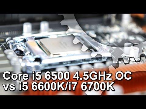 Core i5 6500 4.5GHz BCLK Overclock vs i5 6600K/i7 6700K Gaming Benchmarks