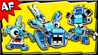 Lego Mixels FROSTICONS Series 5 Krog, Chilbo, Snoof Stop Motion Build Review 41539 41540 41541