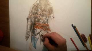 Assassin's Creed IV Кредо Убийцы #1(Как нарисовать Ассасина с 4 части, видео создано для наглядности, так что если кто хочет увидеть более медле..., 2017-01-21T14:31:24.000Z)
