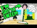 I'M A BROOM?! PLAYING AS GOTTA SWEEP! (My favorite) | Baldi's Basics Roblox Roleplay