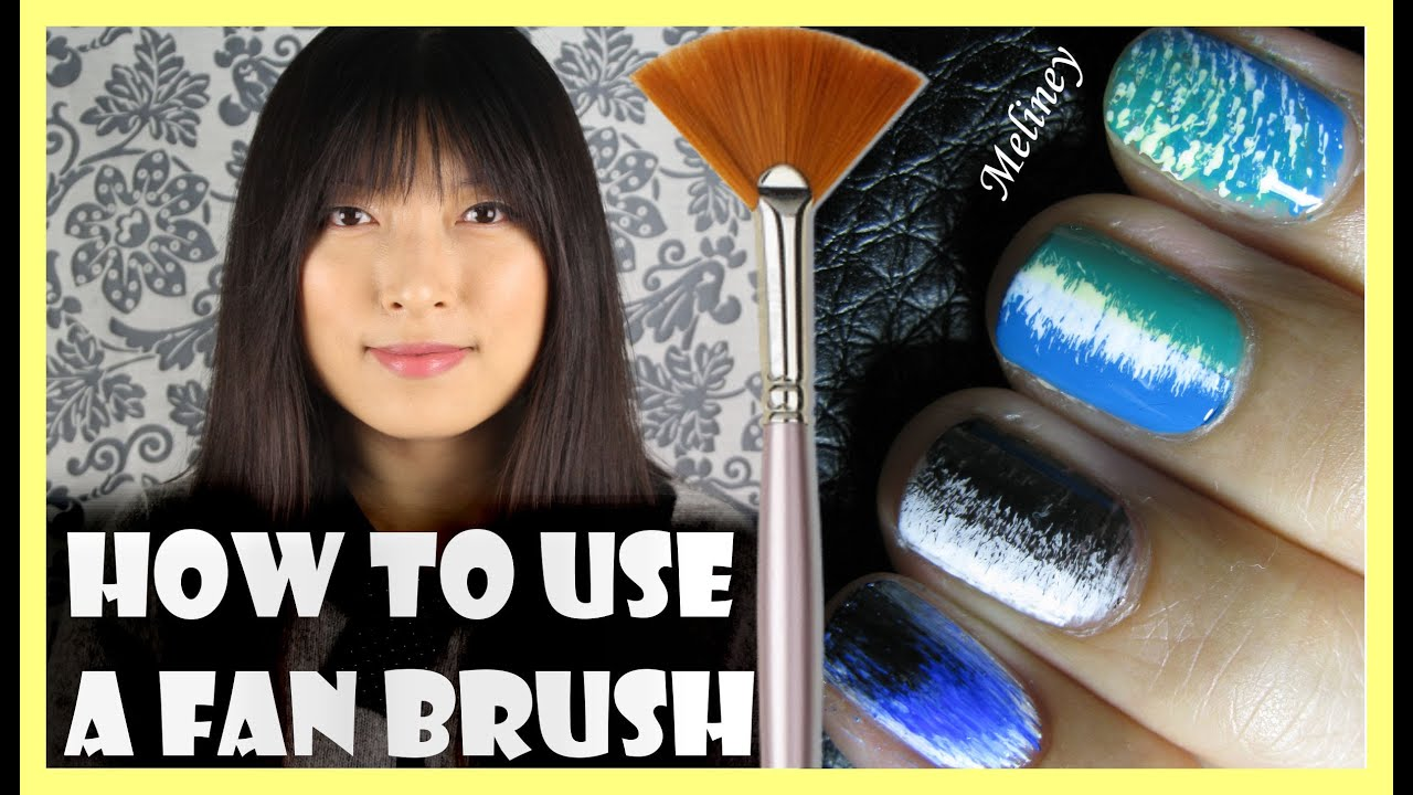 How to use a fan brush to create nail art designs meliney how to use a fan brush to create nail art designs meliney tutorial youtube prinsesfo Image collections