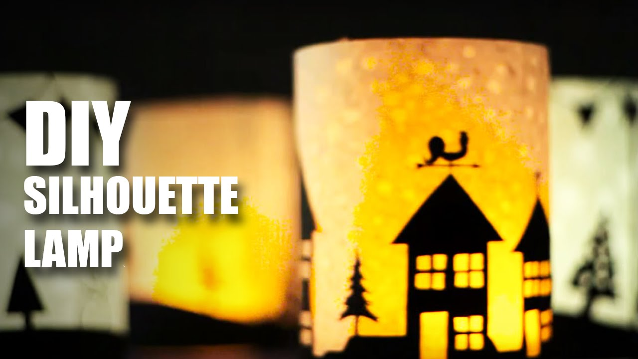 How To Make Diy Silhouette Lamps Youtube