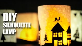 How to make DIY Silhouette Lamps