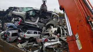 Car Crusher crushing cars