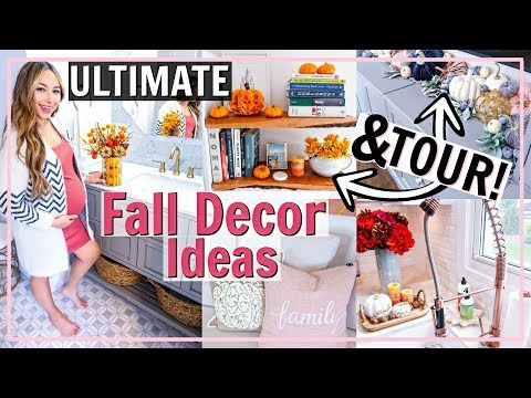 🎃ULTIMATE FALL DECORATE WITH ME & TOUR OF FALL HOME DECOR! FALL DECOR IDEAS 2019 | Alexandra Beuter