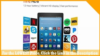 """Fire HD 8 Tablet with Alexa, 8"""" HD Display, 16 GB, Black - with Special Offers"""