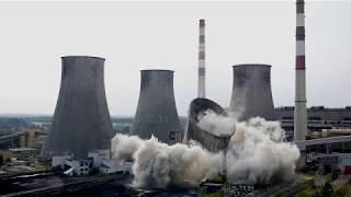 Wysadzanie Chłodni Kominowej - Elektrownia Łagisza