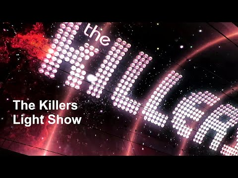 The Killers Light Show @ Fremont Street Las Vegas 01/14/2020