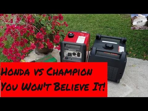 Honda EU3000 Vs Champion 2800 You Won't Believe It!