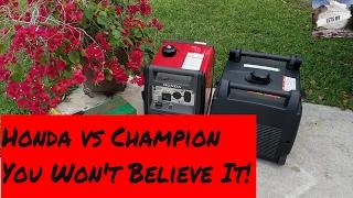 Honda EU3000 vs Champion 2800 you Won