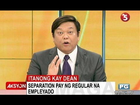 Itanong kay Dean | Separation pay ng regular na empleyado