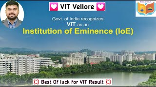 VIT Vellore Result : Best of luck for Rank : Just Chill .