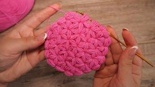 Узор «Звездочки» от центра крючком | Crochet